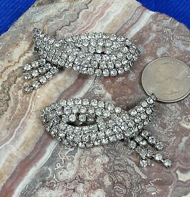vintage Rhinestone shoe clips by Musi  JNW201