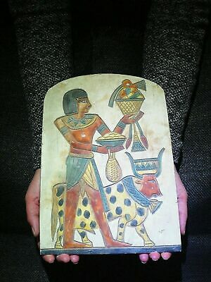 EGYPTIAN ANTIQUE ANTIQUITY Horemheb And Diety Apis Stela Stele 1332-1323 BC