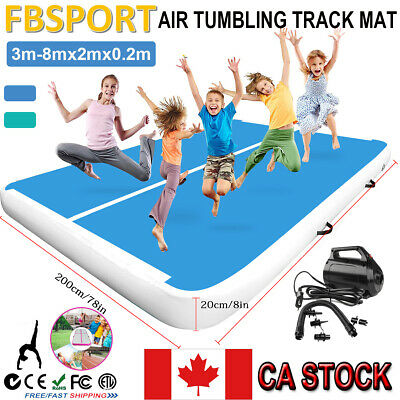 3-8mx2mx20cm Airtrack Inflatable Air Track Gymnastics Floor Tumbling Mat +Pump