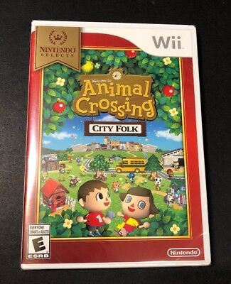 Animal Crossing City Folk [ Nintendo Selects Print ] (Wii) NEW