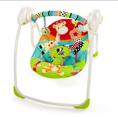 Bright Starts Roaming Safari Portable Swing
