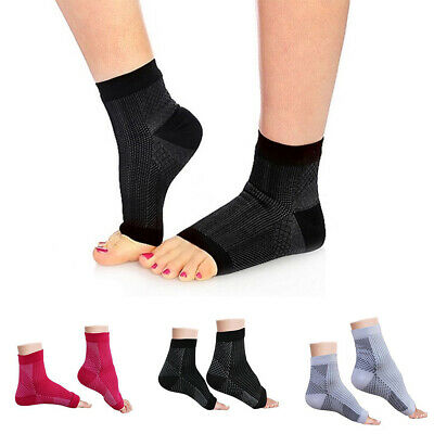 Foot Sleeve Plantar Facilities Compression Socks Sore Achy Swelling Heel Ankle
