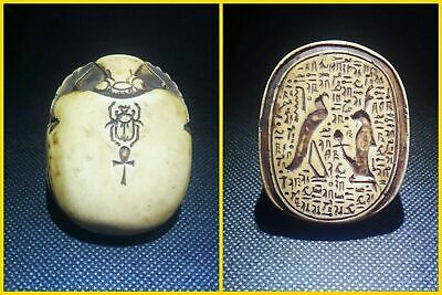 EGYPTIAN ANTIQUE ANTIQUITY Scarab Beetle Khepri Figure Sculpture 1549-1168 BC