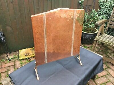 antique arts and crafts movement copper fire screen circa 1910