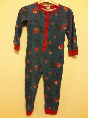 Angry Birds All In One Pyjamas Age 5-6 Years.