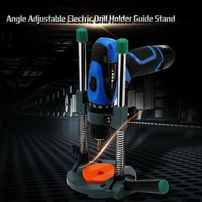 UK Angle Adjustable Electric Drill Holder Guide Stand Clamp Drilling Repair Tool