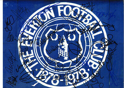 Everton Football Legends Signed 16 x 12 inch hand signed authentic photo SS122E