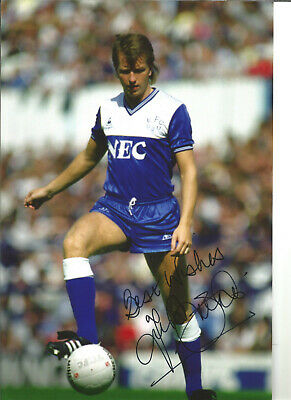 Trevor Steven Everton 12 x 8 inch hand signed authentic football photo SS130B