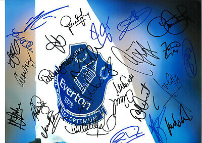Everton Football Club Signed 16 x 12 inch hand signed authentic photo SS122B
