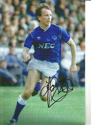 Trevor Steven Everton 12 x 8 inch hand signed authentic football photo SS130C