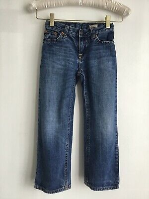 Boys Ralph Lauren Denim Adjustable waist Straight Leg Jeans Size 5 Yrs