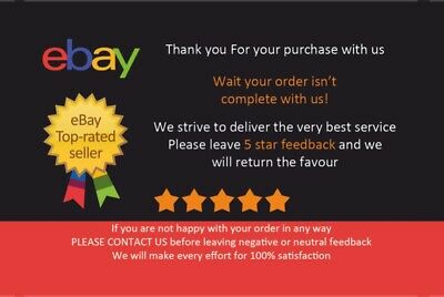 50x Ebay Thank You Feedback Cards 3 00 Picclick Uk
