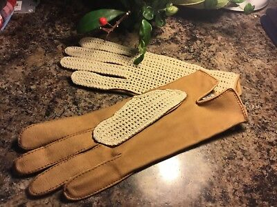 Ladies  Gloves, Size Medium Driving Gloves Half Leather,New Made In Portugal.