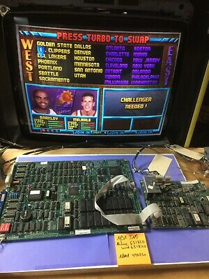 NBA JAM arcade JAMMA main pcb and sound brd TESTED and WORKING 100% 631820