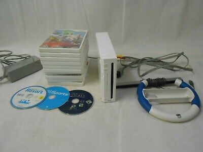Nintendo Wii Console & games bundle Mario Kart Sonic Speed Just Dance