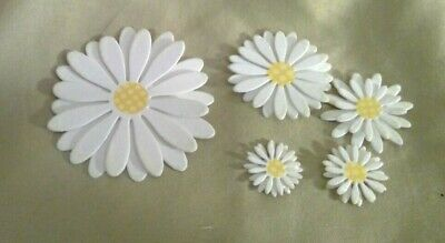 Die cut Flowers - Daisy - 48 pcs in 5 sizes Never Used