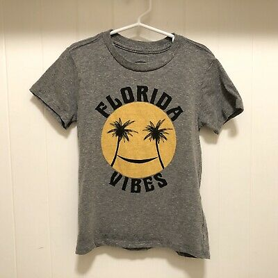 Tiny Whales Boys Girls Florida Vibes Graphic Tee Shirt 6