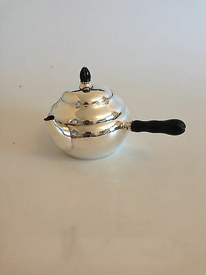 Georg Jensen Sterling Silver Tea Pot with Ebony Handle #1A. From 1915-1930