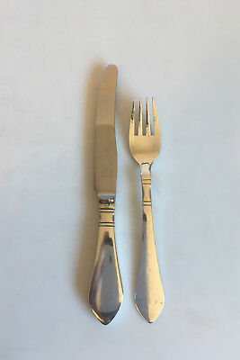 Georg Jensen Sterling Silver Continental Child Knife and Fork