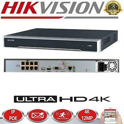 Hikvision DS-7600 - 8 ch 12mp POE