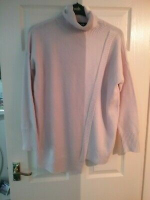 Wallis Pretty Stretchy Pink Jumper Size M Ed 16/18
