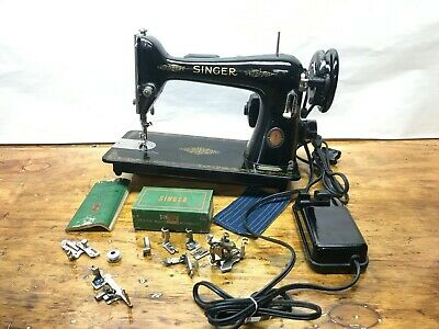 Vintage Singer Sewing Machine  model 66-16 Centennial Model 1951 Serviced
