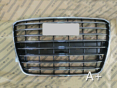 Front Bumper Center Hood Grill Grille Radiator Gloss Black Fit AUDI A8 D3 05-10