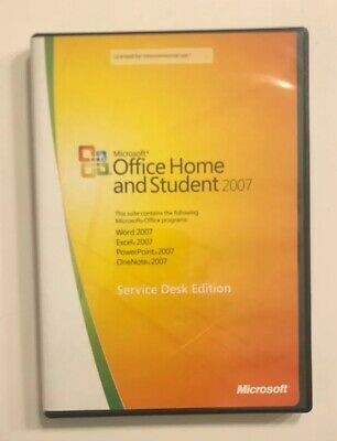 Microsoft Office Home and Student 2007 Service Desk Edition Product Key Included