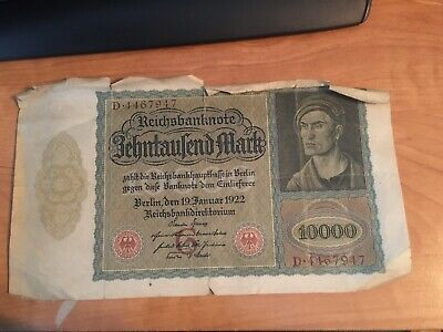 10000 Germany almost 100 years old P-71 VF /> Very Large 10,000 1922 Mark