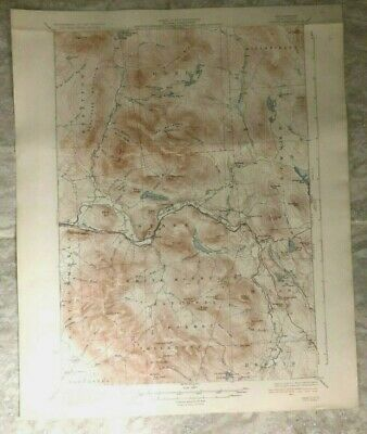 Antique 1934 Geological Survey Topographic Map NH White Mt Nat Forest Berlin