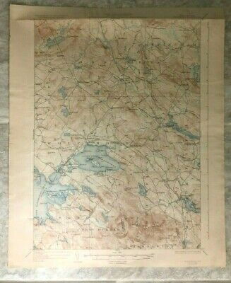 Antique 1931 Geological Survey Topographic Map NH Lake Wentworth Wolfeboro