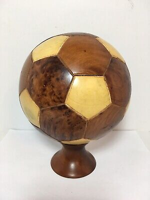 """Moroccan Style Handcrafted Wood Soccer 6"""" Home Office Decor"""