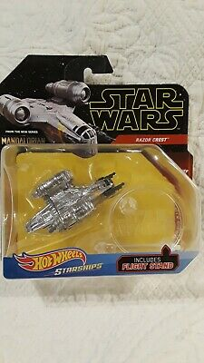 Hot Wheels Star Wars Starships Razor Crest from The Mandalorian mint on card MOC
