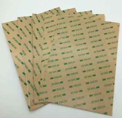 3M 300LSE Double Sided Adhesive sheet tape sheets x5 a3 a4  UK SELLER