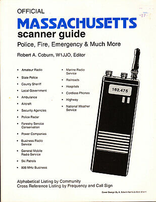 Official Massachusetts Scanner Guide + Radio Frequency Interference Nice Shape +