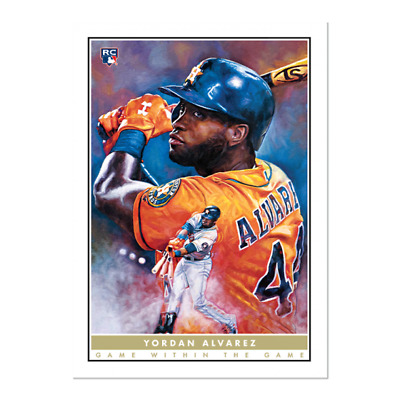 NEW 2020 Topps Yordan Alvarez RC #2 The Game within the Game Paul Jennis Art OH