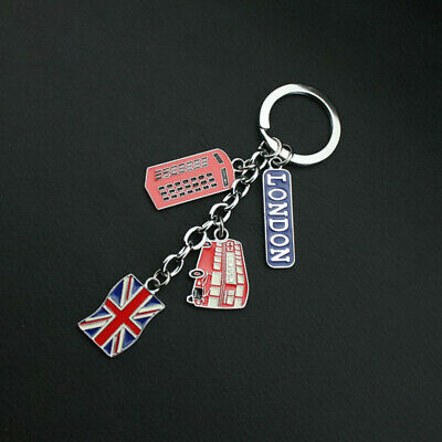 Union Jack Charm Keyring Heart Cushion united kingdom royal wedding loyalist