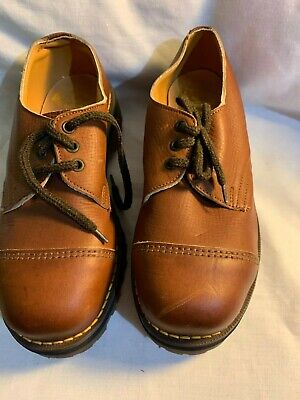vintage LEATHER DR MARTENS  shoes RARE size 4 NON safety footwear AIRWAIR