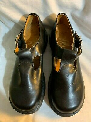 vintage Polley T-strap Mary Janes LEATHER DR MARTENS  shoes RARE size 5 AIRWAIR