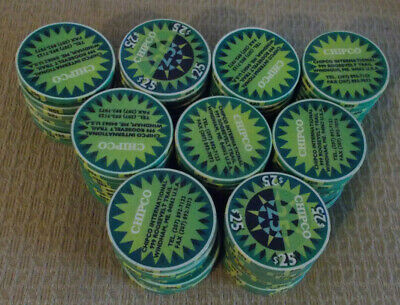 CHIPCO INTERNATIONAL $25 SAMPLE hotel casino gaming poker chips ~ LOT OF 90