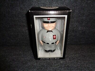 GRAY 1940's TEXACO FAT MAN 'Spanky' CAST RESIN REPLICA COIN BANK - MFG 2000