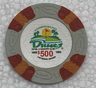 DUNES Casino $500 Commemorative Chip, Las Vegas, NV. Uncirculated. Obsoleted