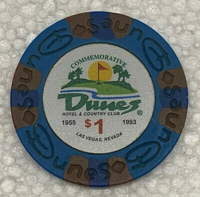 DUNES Casino $1 Commemorative Chip, Las Vegas, NV. Uncirculated. Obsoleted