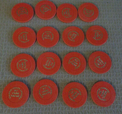 CLASSIC POKER CRUISES NO CASH VALUE hotel casino gaming poker chips ~ LOT OF 16