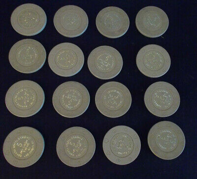 SAHARA HOTEL & CASINO 5 NO CASH VALUE hotel casino gaming poker chips ~LOT OF 16