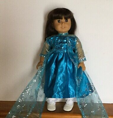 Frozen Princess Elsa Dress To Fit American Girl Dolls Or 18 Inch Dolls