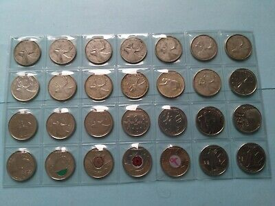 Collection of 28 Different Quarters (25c) From 1943-2013, No Reserve! (Lot #19)