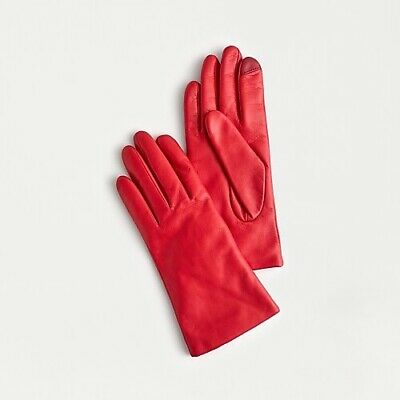 J Crew Cashmere-lined leather tech gloves Size S