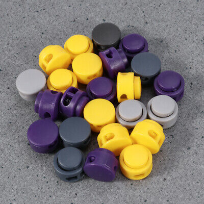 25pcs Buttons Colorful Oval Spring Buttons Spring Fastener Cord Lock for Clothes