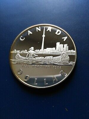 1984 Canadian Silver Dollar ($1), No Reserve!